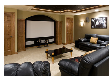Home theater speaker installation pictures.